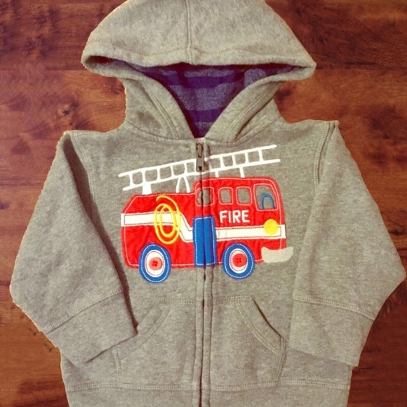 Toddler Boy Fire Truck Zip Up Hoodie